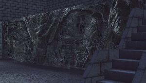Alduin's Wall - W.I.P. by Nelphael