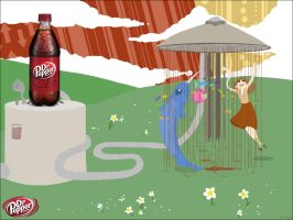 Dr. Pepper with a Narwhal by Banoranga