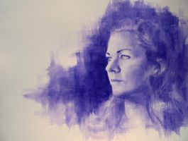 Portrait in Violet by Mr-Modest