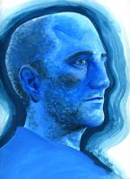 LD4 blue man painting by silentsketcher