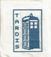 Tardis cross stitch by 007Ashley