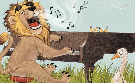 singing lion by KerstinS