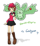 Gabby and Reuniclus by EmeraldsOfSugar