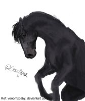 Black Horse WIP by CrazyHorseXD
