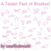 A tender pack of Brushes by mustbelovedd