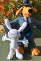 Sam and Max Plushies by arixystix