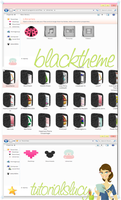 blacktheme iconpackager by tutorialslucy