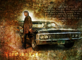 SPN- Dean and the Impala by SprntrlFAN-Livvi