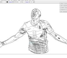 Outlines Robben by Fresco24