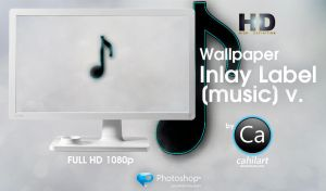 Wallpaper Inlay Label music by CaHilART