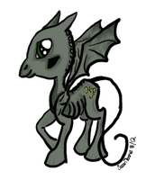 Harry potter Thestral Baby,  MLP Style  Adoptable by LilWolfStudios