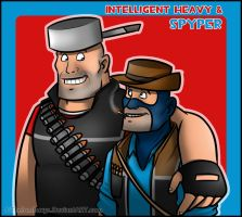 Intelligent Heavy and Spyper by RatchetMario