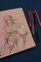 RWBY - Neo  (Quick Pencil Artwork Pic 2/2) by kapiheartlilly