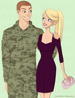 G. I. Joe + Barbie by Porcelain-Requiem