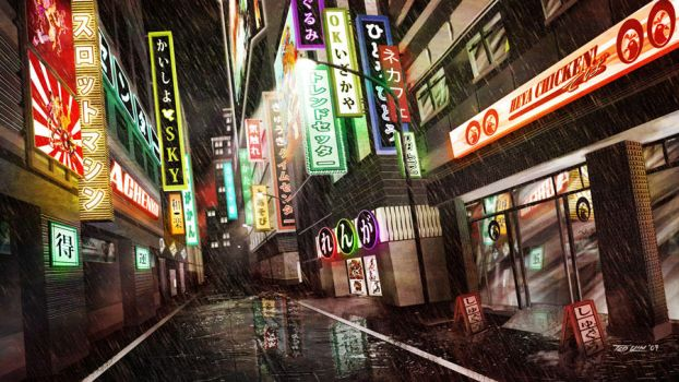 Nihon Alley by TedKimArt
