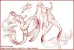 2 Tails Undine Sketches 02 by BlackUniGryphon