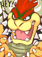 'HEY,' - Bowser by Lollergator