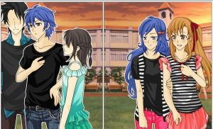 Gray Fullbuster and his Group,Juvia and Lucy. by MysteryFlavour18