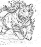 Bunring Tiger pencils by LeavingCrow