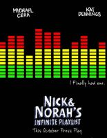 Nick and Norah's Movie Poster by memann