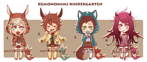 [CLOSED] Kemonomimi Kindergarten batch2. by Aritsune-chan