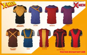 X-Men Shirts Part 1! by prathik