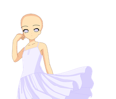 Pretty Dress BASE by GoddessofPixels