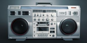 Boom Box render 3 by djreko