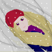 Out in the snowstorm by KittyNekoVikki