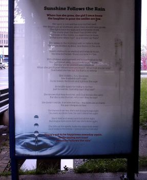 Bus Shelter Poetry by alivethroughart