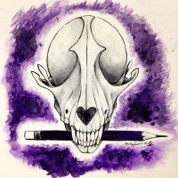 Macabre and Meticulous Watercolor Logo by MythicVoid