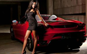 Ferrari hot brunette girl #2 by bradyrichie