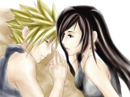 Cloud and Tifa by animetor21