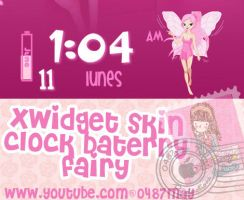 Fairy clock batery, xwidget skin by may0487