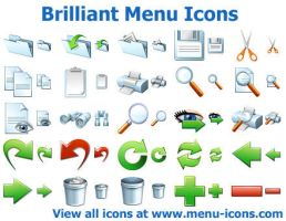 Brilliant Menu Icons by Ikont