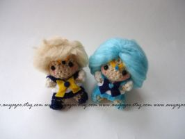 Neptune and Uranus Amigurumi by AnyaZoe