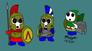 Hoplite Shyguys by pheeph