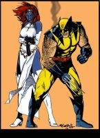 Wolverine and Mystique by statman71