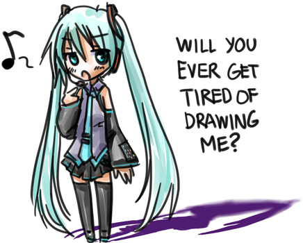 Miku complains by NickBeja