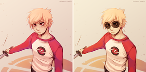 Dave Strider by ikimaru-art