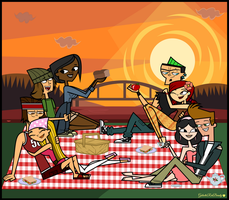 Total Drama- Couples Picnic Time! by Galactic-Red-Beauty