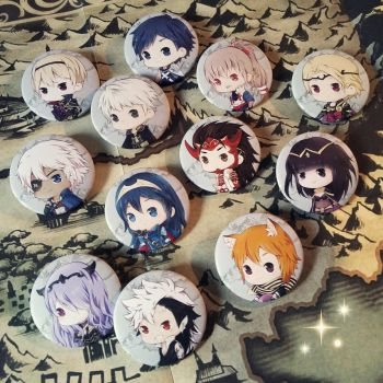 Fire Emblem Buttons by HappyStarring