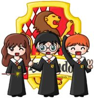 Chibi Harry Potter Crew by keishinde