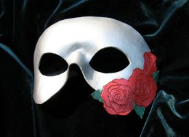 Silver and Red Roses Mask by MummersCat