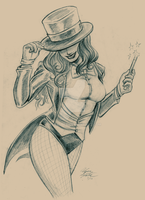 Zatanna Pencils by lyssaspex
