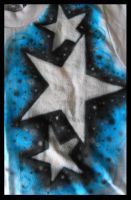 Blue-Black Star Design by vampireheartagram27