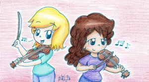 Gift: Two Violinists by BabyAbbieStar
