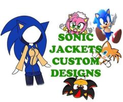 Sonic Jacket Custom Design Banner for journal ski by chi171812