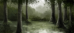 DAY 428. Swamp by Cryptid-Creations