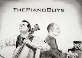 The Piano Guys (Graphite Drawing) by julesrizz